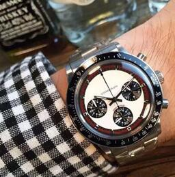 Wholesale Antique Watches - Luxury watches Top Brand quartz chronograph Watch For Mens Stainless Steel Fashion Antique Paul Newman Wristwatch Business Men's Watch