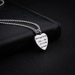 Wholesale Heart Locket Engraved - Heart Urn Pendant Cremation Ashes Necklace Memorial Personalized Locket Necklace Engraved No Longer By My Side But Forever In My Heart