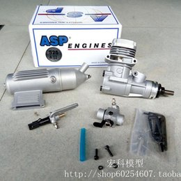 Wholesale Engine Rc Airplane - ASP 4CC 2 Stroke S25A Nitro 0.47kw 18500rpm Engine for RC Airplane NOT Included Glow Plug