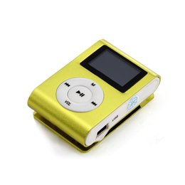 Wholesale Kids Mini Music Player - Wholesale- mini lettore LCD screen mp3 music musica clip player reproductor mp 3 kids speler usb mp3 players reproductor de baladeur mp-3