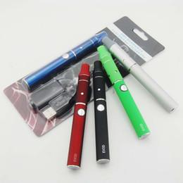 Wholesale Eletronic Cig - Evod mini Ago blister kit dry herb wax vaporizer pen ugo eletronic cigarette evod battery ago atomizer e cig sigara dry wax coil