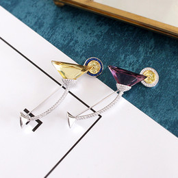 Wholesale Designer Crystal Brooches - designer 925 silver gold-platedcocktail shining brooch corsage
