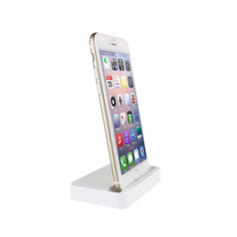 Wholesale Dock Cradle For Apple Iphone - Wholesale Cell Phone Chargers Desktop Charger Dock Syncing Station USB Cradle Charger for iPhone 7 6 6S 6S Plus