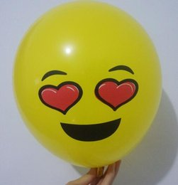 emoji geschenke Rabatt Latexfrei Ballon Spielzeug 12 Zoll Emoji Ausdruck Ballon Hochzeit Festival Dekoration Kinder Geschenk Gag Spielzeug