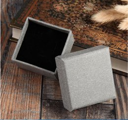 Wholesale Small Pendant Gift Boxes - 5.5x5.5x3.5cm 100pcs Retro Small Kraft Paper Square Party Wedding Favors Bag for Gift Bag Pendant Ring Earring Pendant Display (Gray)