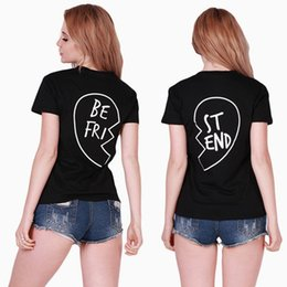 Wholesale Bell End - Wholesale- Best Friends Shirt Print Letter BE FRI ST END Women T-shirt Summer Style Fashion Short Sleeve Women's Clothing