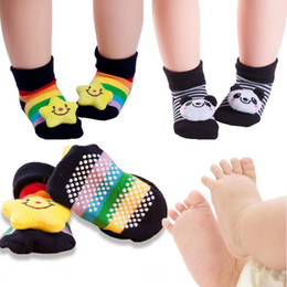 Wholesale Doll Socks Wholesale - Baby Socks Christmas Socks For Newborns Gift Cartoon Doll Animal Lot Anti Slip With Rubber Soles For Child Boy Girl Ship Socks