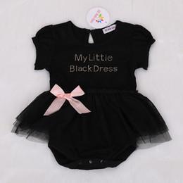 Wholesale Toddler Girls Bubble Romper - 2017 Summer Baby Romper Pink Bowtie Black Romper Bubble Skirt Gauze Toddler Baby Girls & Kids Clothing