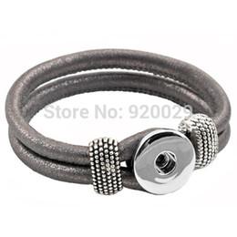 Wholesale Easy Button Wholesale - Wholesale-P00001 newest Easy imitation leather rivca Button bracelet cord size 6mm for 18mm button