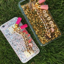 Wholesale Chinese Tassels - for Huawei P8 P9 P10 lite mate 8 9 Cute Exclusive Customize Name Personal Chain Tassel Flake glitter Soft case cover