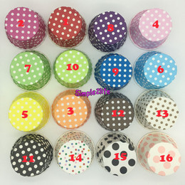 Wholesale Stripe Cupcake Case - Hot !!! 1500pcs Mixed Design Round MUFFIN Paper Cake Cup CupCake case Liner Polka DOT and Stripe can be in oven