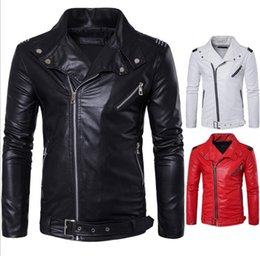 Wholesale Wholesale Outdoor Jackets - Jackets Men Casual Leather Coats Winter Outerwear Leisure Jumper Slim Fashion Overcoat Zipper Top Outerwear Outdoor Men's Clothing KKA3048