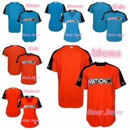 608be09d9 ... All-Star Game Home Run Derby Men Women Kids National League Majestic  Orange Blue Customized Number and Name 2017 MLB All- ...