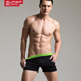 Wholesale Lower Pajama - Wholesale-3pcs lot 2015New SUPERBODY Men's shorts Low-rise solid home shorts Pajama fashion shorts 6 Colors Size M L XL