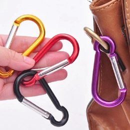 Wholesale Hook Assembly - Colorful Aluminium Carabiner Durable Climbing Hook Aluminum Camping Accessory Fit for Outdoor Sports DHL Shipping Free