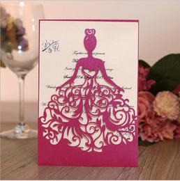Wholesale Beautiful Birthday Cards Free - Free Shipping 50pcs lot Exquisite Beautiful girl birthday paty wedding invitation cards Adult Ceremony celebration invitaiton blessing card