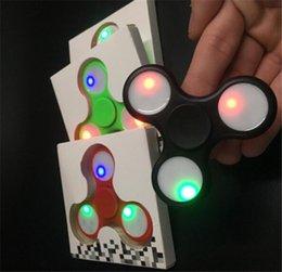 Wholesale Dora Toys Plastic - 2017HOT triangle LED HandSpinner plastic LED Fidget Spinner Finger Fingertip Gyro Tri-Spinner Handspinner Fidget Toys EDC Decompression dora