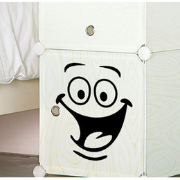 Wholesale Plants Furniture - Smile face Toilet stickers diy personalized furniture decoration wall decals fridge washing machine sticker Bathroom Car Gift