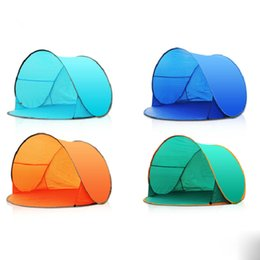 Wholesale Blue Shelter - Outdoor Quick Automatic Opening Tents Instant Portable Shade Tent Beach Tent Beach Shelter Hiking Camping Family Tents Children Play Game