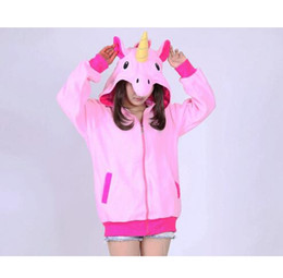 Wholesale Girl S Long Sleeve - New Novelty Women Hoodies Fashion Cartoon unicorn Sweatshirts Tracksuits Women gardigan hoodies Girl Winter cute Hooded Jacket