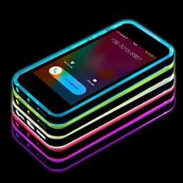 Wholesale Iphone Blink - LED case Flash Remind Incoming Call Blinking TPU Bumper Frame Protector Skin led Luminous Case Cover for iphone mate note