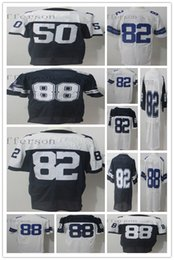 Wholesale Elite Football - 2017-2018 mix order Breathable Jerseys 50 Lee 82 Witten 88 Bryant elite mesh High Quality Stitched Jerseys