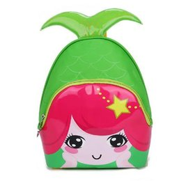 Wholesale Kindergarten Cartoon - wholesale Kids Bags 2017 New Fashion Cute Waterproof Children Backpacks Cartoon Mermaid School Bags for Kindergarten Girls Baby Bag
