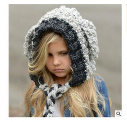 Wholesale Knitting Lamps - Baby Girls Hats Handmade Kids Winter Hats Wrap Lamp Caps Cute Autumn Children Wool Knitted Hats DHL Free shipping