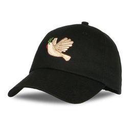 Wholesale Retro Sports Hats - Peace Dove Baseball Caps donna Cartoon Embroidery Casual hip hop Hats Retro NEW Fashion Sport Caps for men women drake hats