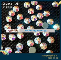 Wholesale Machine Cut Crystal - DMCSS20 5mm Clear AB 1440pcs in package Gross Top Quality DMC Hot fix Crystal Round Rhinestones Iron Flat back Machine Cut free shipping