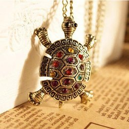 Wholesale Cheapest Priced Jewelry Wholesale - 2017 Wholesale New Cute Fashion Turtle Pendant Necklace Vintage Cute Sweater Tortoise Necklaces Jewelry For Women Cheapest Price