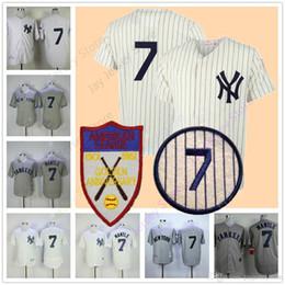Wholesale Mantle Man - Mickey Mantle Jersey Men Women Youth 1951 Cooperstown New York Yankees Jerseys Home Away Flexbase Cool Base Vintage