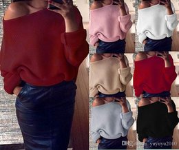 Wholesale Long Fur Coat Model - Novelty shrug solid thin winter Burst models Strapless Solid color Long sleeves Women Sweaters coat cotton wine red