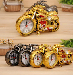 Wholesale Motorcycle Clock Alarm - Motorcycle alarm Clocks Home Decoration Alarm Clock Super Cool Motorcycle Model Clocks unusual alarm clock home Décor KKA2074