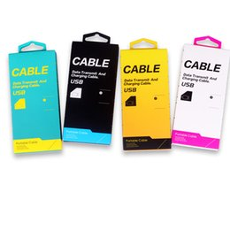 Wholesale Bags Cardboard - Universal Cardboard Paper USB Cable Retail Packaging Box Bag Package For iPhone Samsung 3FT-5FT USB Cables Data Sync Charger Free DHL KJ-295