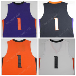 Wholesale 2017 New Hot Devin Booker Jersey Phoenix Basketball Jerseys BOOKER All Stitched Purple Orange Black White Men with player name