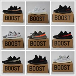 Wholesale Shoe Box Black - 2017 Best Quality Boost 350 Boost V2 Beluga Sply-350 Cheap Black White Black Peach Men Women Running Shoes Kanye West Boost 350 With Box
