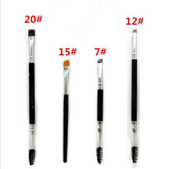 Wholesale Double Headed Brush - best price hot Makeup Brushes 20# 12# 15# 7# brush double eyebrow brush head brush A122