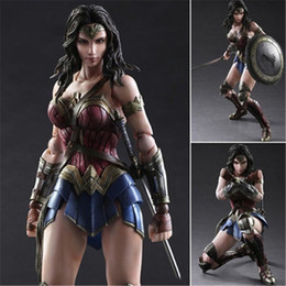 Wholesale Wonder Woman Figure - Wonder Woman Action Figures Movable Figure Model Toy Collection for Kids Children Play Arts 25cm PVC Action Figures Toys with Box