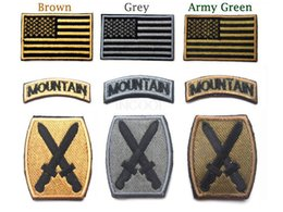 Wholesale Acu Bdu - 30 PCS US Army 10th Mountain Division 3D Embroidered USA Flag & Tab & Digital ACU Patch BDU Shoulder Patch Badge free ship