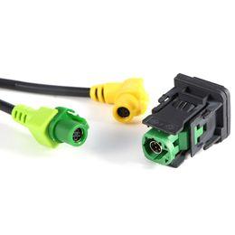 Vw usb kabel online-USB AUX Car Switch Kabelbaum RCD510 RCD300 + für VW Golf 6 Jetta MK5 Sagitar Polo