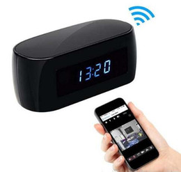 Wholesale Spy Camera Baby - 1080P Wifi Clock Hidden IP Camera P2P with Night Vision HD table clock Spy Cam remote monitor Home Security Camcorder Baby Monitor