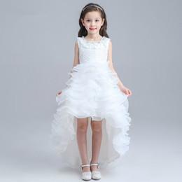 Hi-Lo Meninas Vestidos Pageant Para Adolescentes de Casamento Do Aniversário flor Meninas Vestidos Custom Made Applique Até O Chão Meninas Pageant Vestidos de