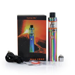 Wholesale Big Black Beast - SMOK Stick V8 Starter Kits with 5ml TFV8 big baby Atomizer 3000mAh Stick V8 battery PEN Style Cloud Beast Vape pen Subvod