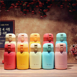 Wholesale Cute Travel Mugs - Cute Lovers Thermo Mug Stainless Steel Vacuum Flasks Thermos Coffee cup Travel Insulated Thermocup Thermal Bottle for Water