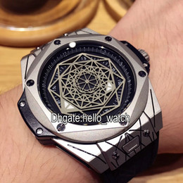 Wholesale High Quality Skeleton Watches - AAA High Quality Cheap New Brand Big 415.NX.1112.VR.MXM16 Skeleton Dial Automatic Mens Watch 901L Steel Leather Strap Sport Wristwatches