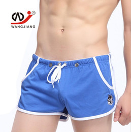 Wholesale Army Men Bulges - Men Underwear Underpants Sports Boxers Shorts Mens Sexy Low Waist Male Bulge Pouch Briefs Breathable Underpants Free shipping 6 pecs