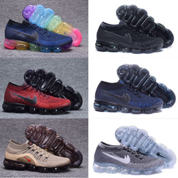 Wholesale Sport Casual For Women - VaporMaxes 2018 Running Shoes Weaving racer Ourdoor Athletic Sporting Walking Sneakers for Women Men Fashion pink Casual maxes Size 36-46