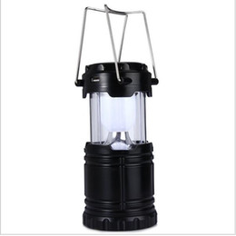 Wholesale Solar Led Lights For Camping - Classic style 6 LEDs Rechargeable Hand Lamp Collapsible Solar Camping Lantern Tent Lights for Outdoor Lighting Hiking