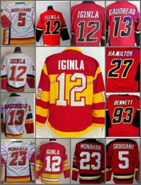 Wholesale Jarome Iginla Jersey - Calgary Flames Hockey Jerseys Ice 5 Mark Giordano 13 Johnny Gaudreau 23 Sean Monahan 12 Jarome Iginla 7 TJ Brodie 93 Sam Bennett